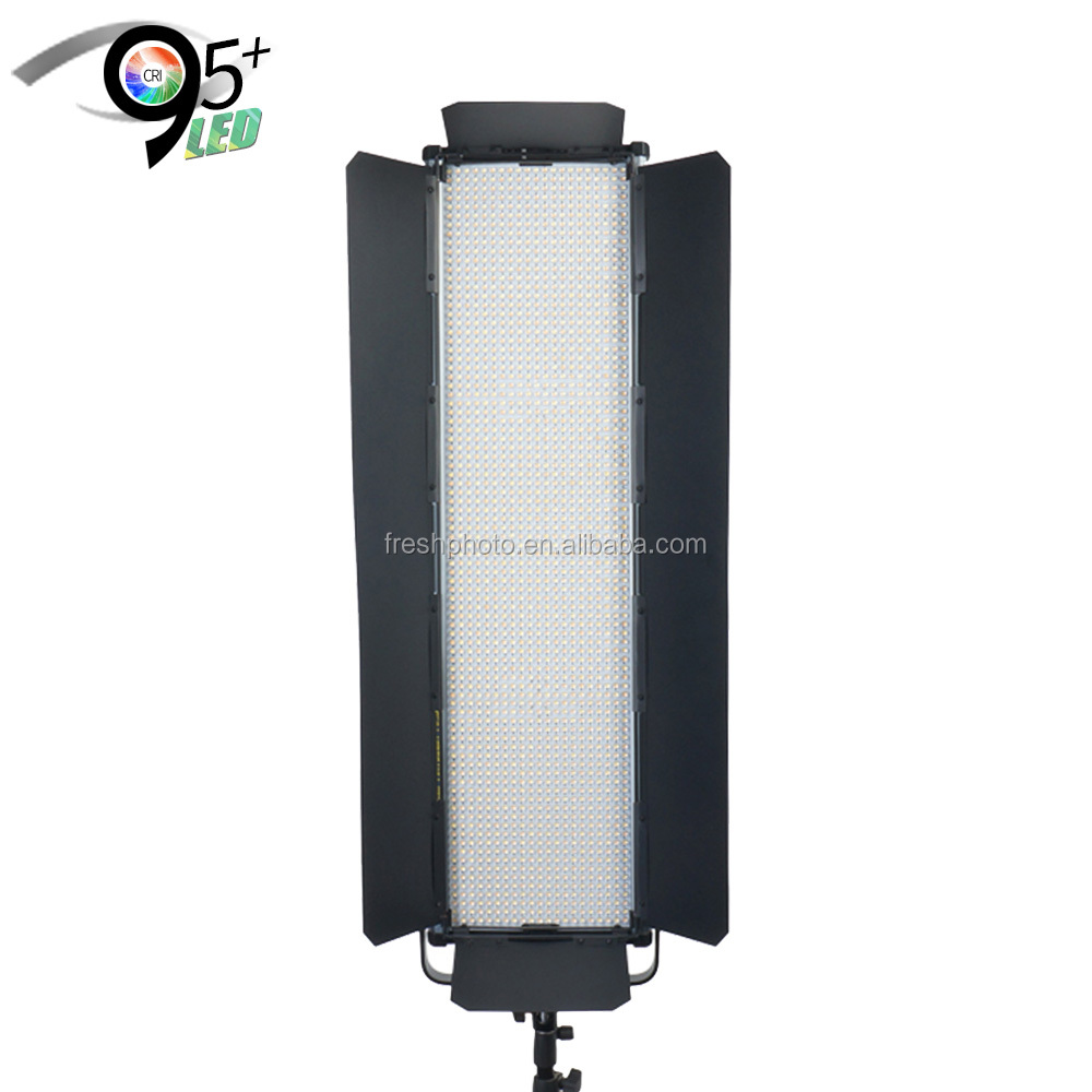 ultra thin digital display 120W CRI95+ aluminum portable led film shooting light with barn doors & softbox