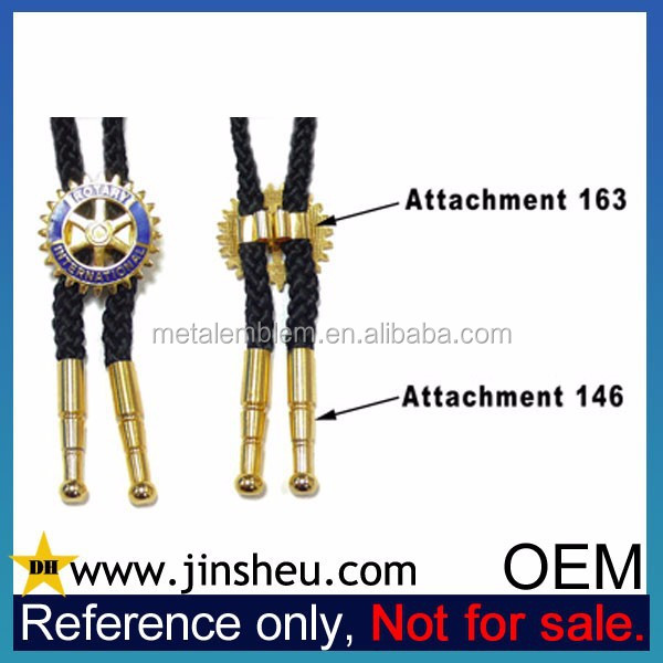 Wholesale Black Fashion Custom Decorative Metal Bolo Tie Necklace