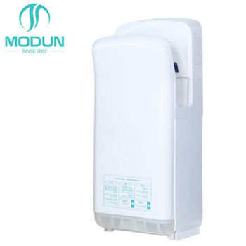 ABS high speed automatic electric dual JET air uv light hand dryer