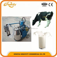 Small cow breast milk sucking machine, automatic single cow milking machine price