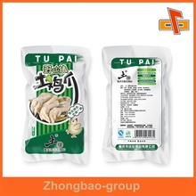 Food grade three side heat seal foil bags for Chicken feet packaging