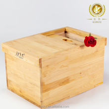 China manufacturer solid custom wood donation box, wooden storage box