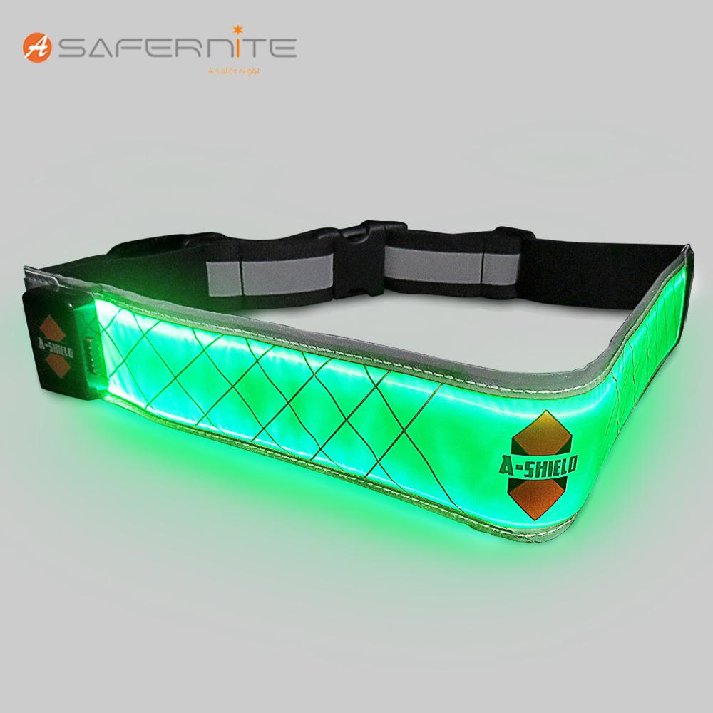 USB Rechargeable Running Cycling LED Reflective Waist Belt Light Weight New Pink