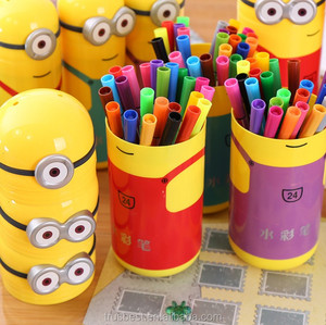 Japan and Korea stationery cute lovely cartoon water color brush drawing pen 18 color pen