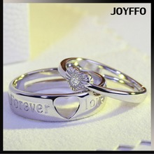 Hot Sale Romantic Lovers Couple Rings Inlaid Cubic Zirconia Heart-shaped Rings Women Men Engagement Ring Wholesales 1pc