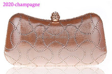 2020 champagne ladies wallets and purse beaded clutch evening bags