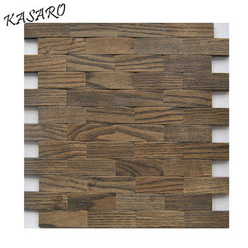 Aluminum Peel and Stick Wood Effect Tile 3D Tile for Kitchen
