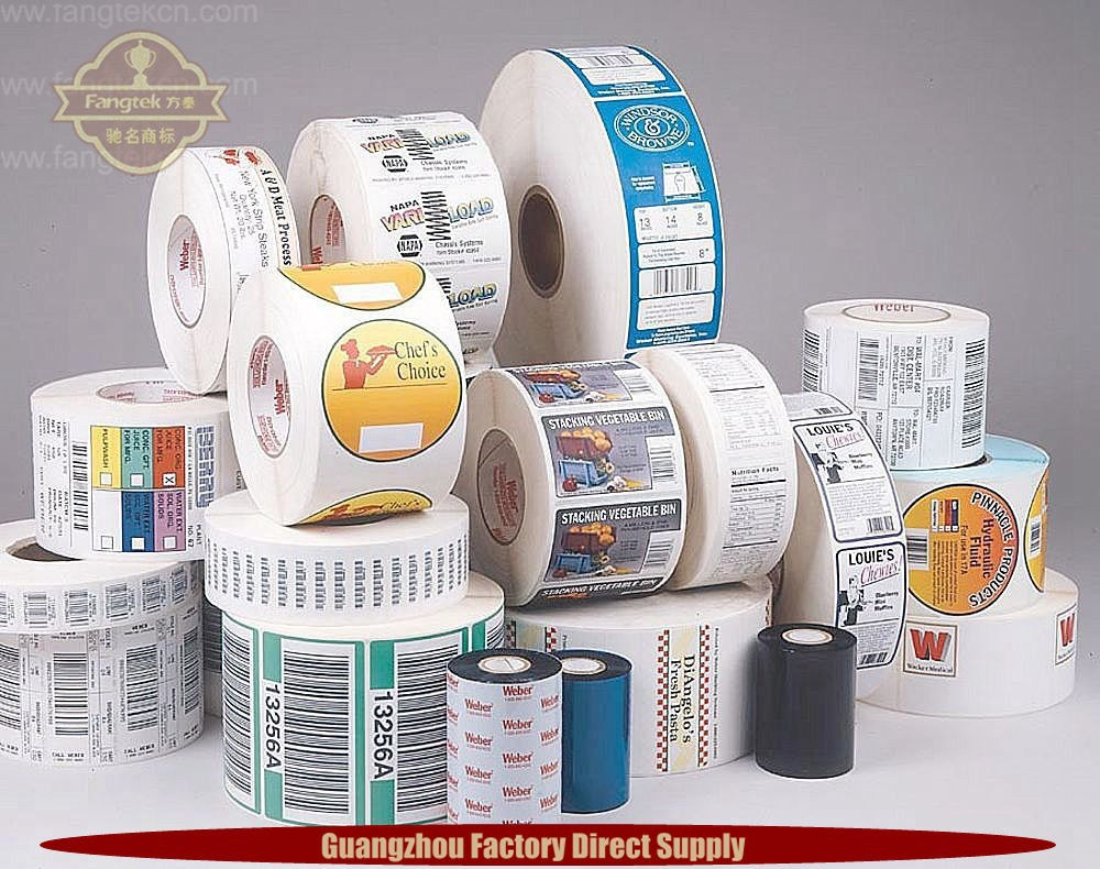 Brand Self adhesive Custom Vinyl Stickers Printed Label with Company Brand Logo for promotion