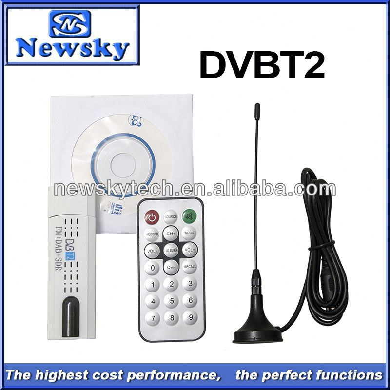 dvb t2 free tv tuner software with FM+SDR function