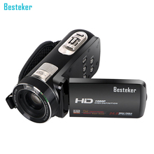 Besteker Portable HD Max 24.0 MP 1080P DV with 1200X Superzoom 3.0 Inches Touch Screen Remote Control Digital Camcorder