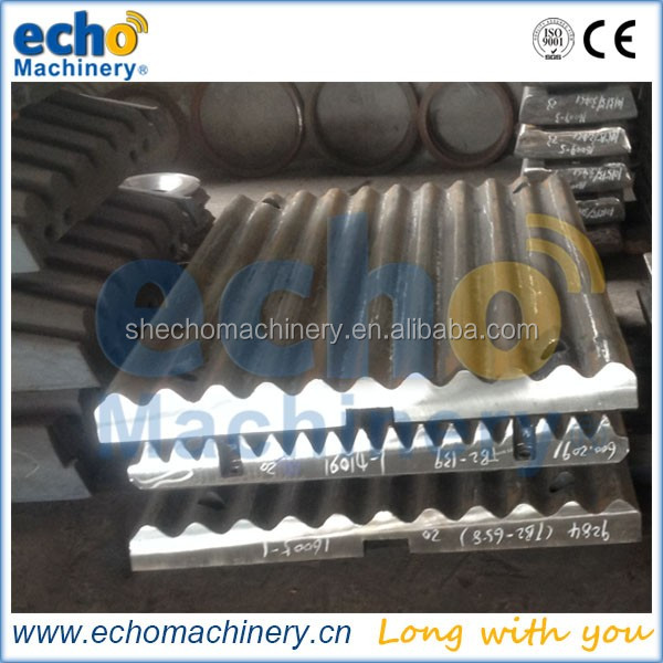 high manganese steel casting jaw crusher cheek plate for crushing field