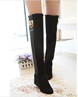 F70140U 2013 designer shoes wholesale knee-high thigh-high boots boots leopard head increased leisure in tall canister boots