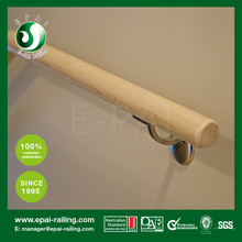Simple Exterior Wooden Stainless Steel Handrail Stair Railing