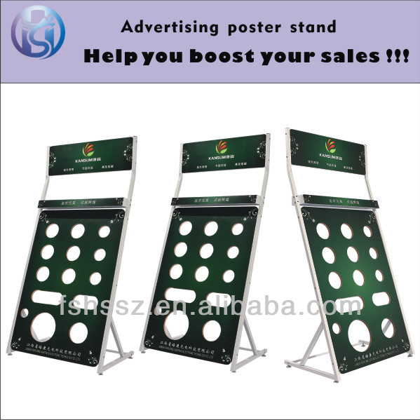 HS-ZS02 Customized Iron MDF Board Light Bulb Display Stand