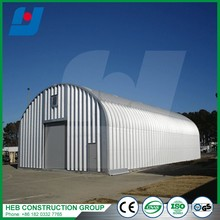 Industrial Price Curved Roof Steel Structure Shed With Sandwich Panel