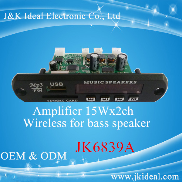 JK6839A Best quality wireless transmitter module for bass speaker