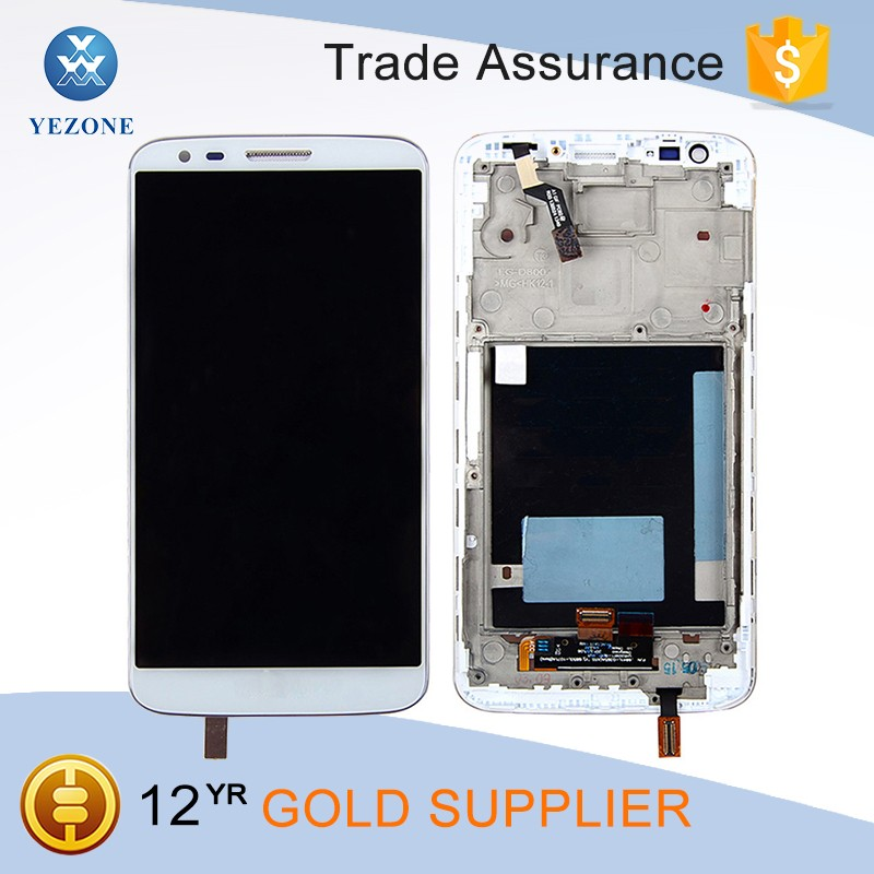 5.0 inch Mobile Phone White LCD for LG G2 D806 Display Touch Screen Digitizer Assembly