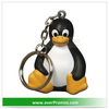 PU Material Sitting Penguin Stress Reliever Key Chain For Promotion