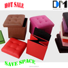 foldable storage ottoman chair furniture , ottoman fabric/leather