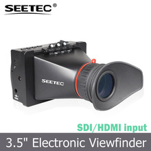 3.5 inch electronic viewfinder sdi hdmi input for pro video display