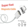Super Fast 2.4A Magnetic USB Micro Charger Data Adapter Cable for Android for LG for Samsung for Smart Phone