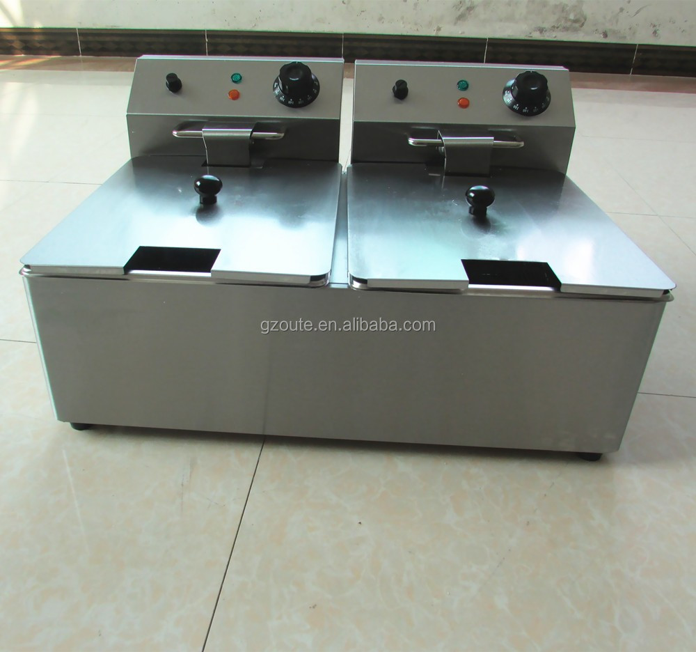 8L Counter Top Commercial Electric Fresh Potato Chips Making Chicken deep fryer Machine