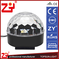 Plastic disco lights mirror ball full color RGB stage light for party