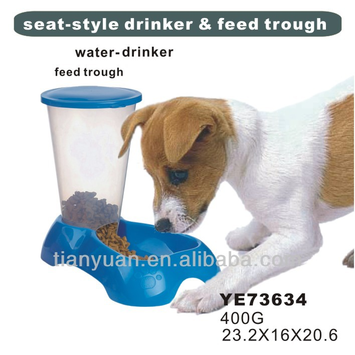 Hard plastic automatic dog bowls with stand