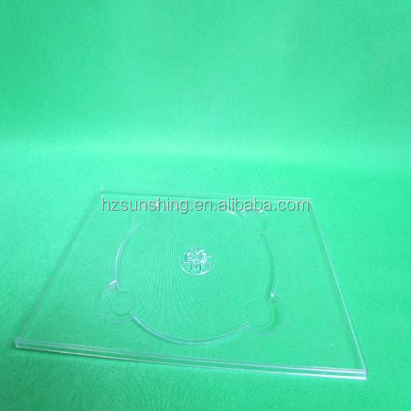 clear ps plastic dvd tray for 1discs