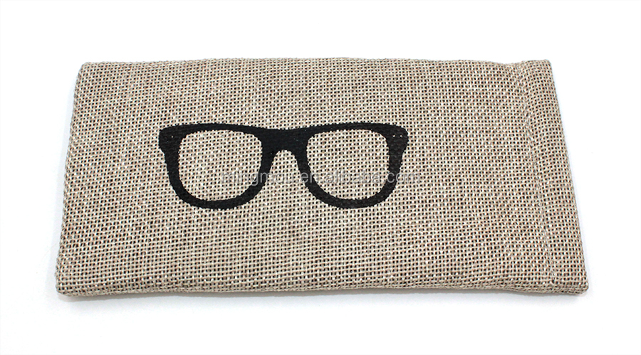 Eco-friendly squeeze top eyewear pouch bag for glasses