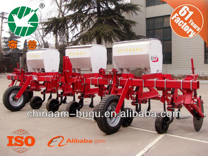 3 Point corn cultivator with fertilizer distributors