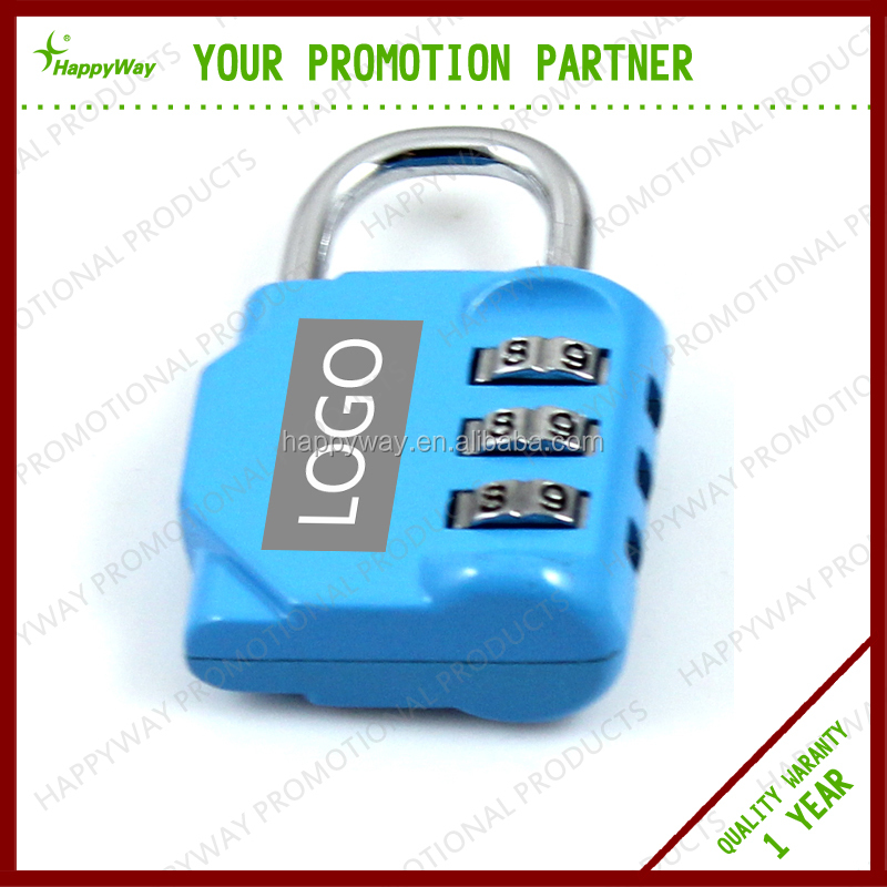 Zinc Alloy Combination Lock for Promotion MOQ100PCS 0907012 One Year Quality Warranty