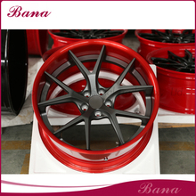 New product custom red Forged wheel car rims black chrome alloy wheels