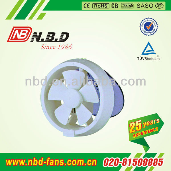 round glass ventilation fan