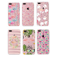 2017 soft tpu Plastic Flamingo Full Protective Back Cover Case For Iphone 7 plus for xiaomi redmi note phone case