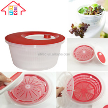 Plastic Kitchen Manual Fruit and Vegetable Salad Spinner With Mixer