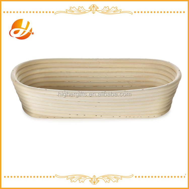 "25CM/10"" OVAL RATTAN BROTFORM BANNETON BREAD PROOFING PROVING BASKET with EU ans USA stardand"