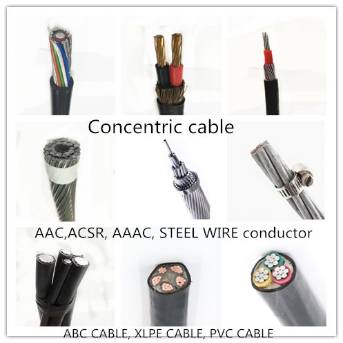 16mm Aerial Service Concentric Neutral Cable with Pilot Communication Wire SNE CNE Airdac Cable for zambia