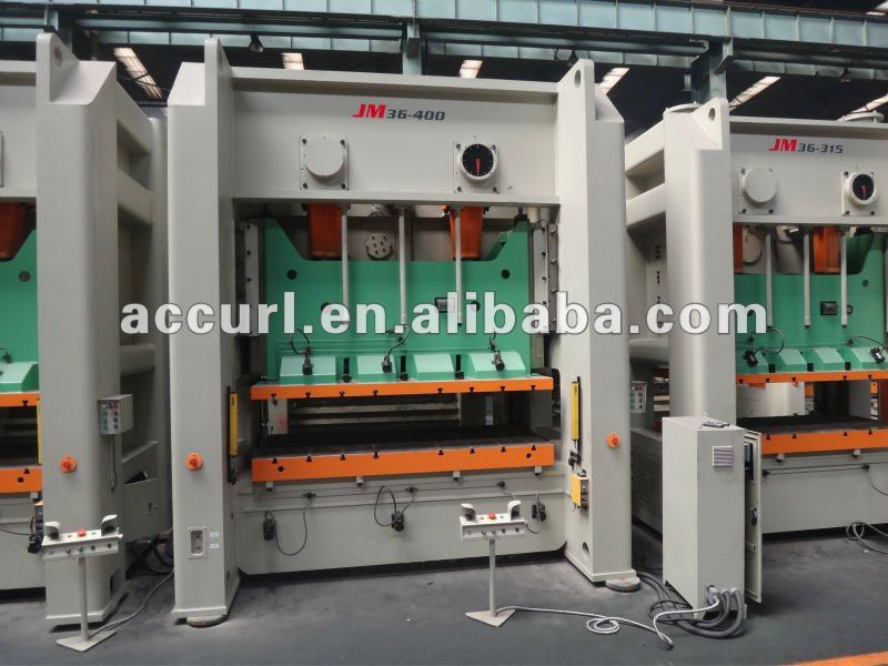 300T Mechanical Presses 300 Ton capacity H frame Two Points Power Press,300 Ton H-frame Double Crank Power Press for sale