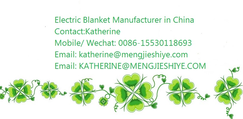 polyester massage electric heated blankets