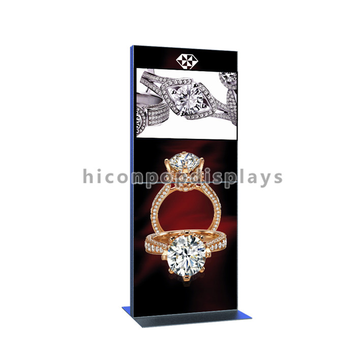 New Metal Visual Adveritisng Floor Standing Jewellery Mall Shop Fitting Ring Display Jewelry Kiosk
