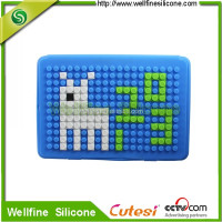 Puzzle silicone case for mini i pad 2 with blocks design