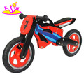 Wholesale cheap children wooden balance bike red without pedals W16C067