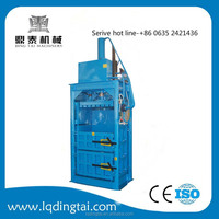Hydraulic baling press for clothing