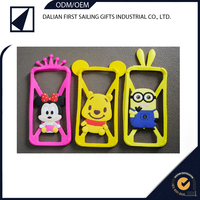 Silicone Bumper Case Screen Protector smart 3d cartoon mobile phone covers