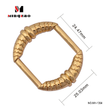 Wholesale metal bag ring square buckle handbag hardware square rings for backpacks