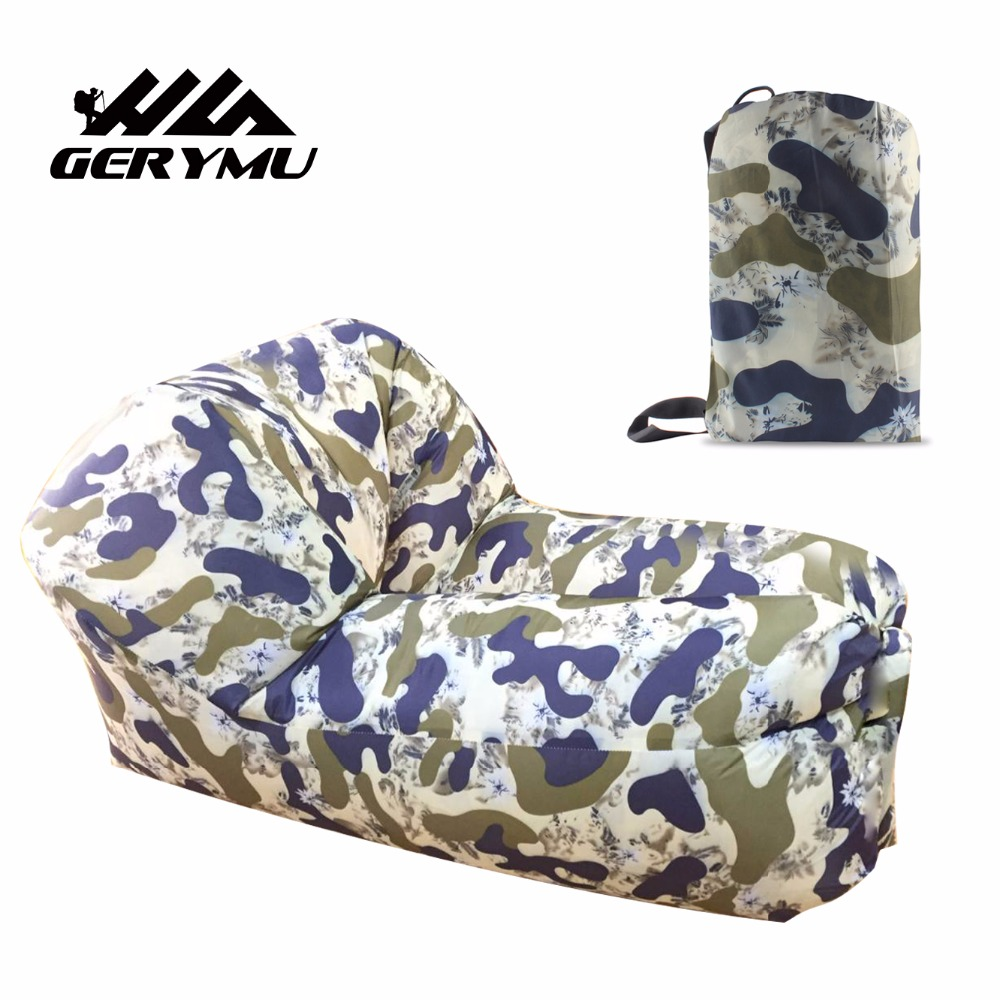 GERYMU Hot sale Outdoor camping portable chair quick inflatable air lounger