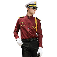 Security guard dress uniform with stand collar