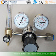 316L stainless steel co2,argon,hydrogen,oxygen,propane,nitrogen,natural gas pressure regulator with flow meter