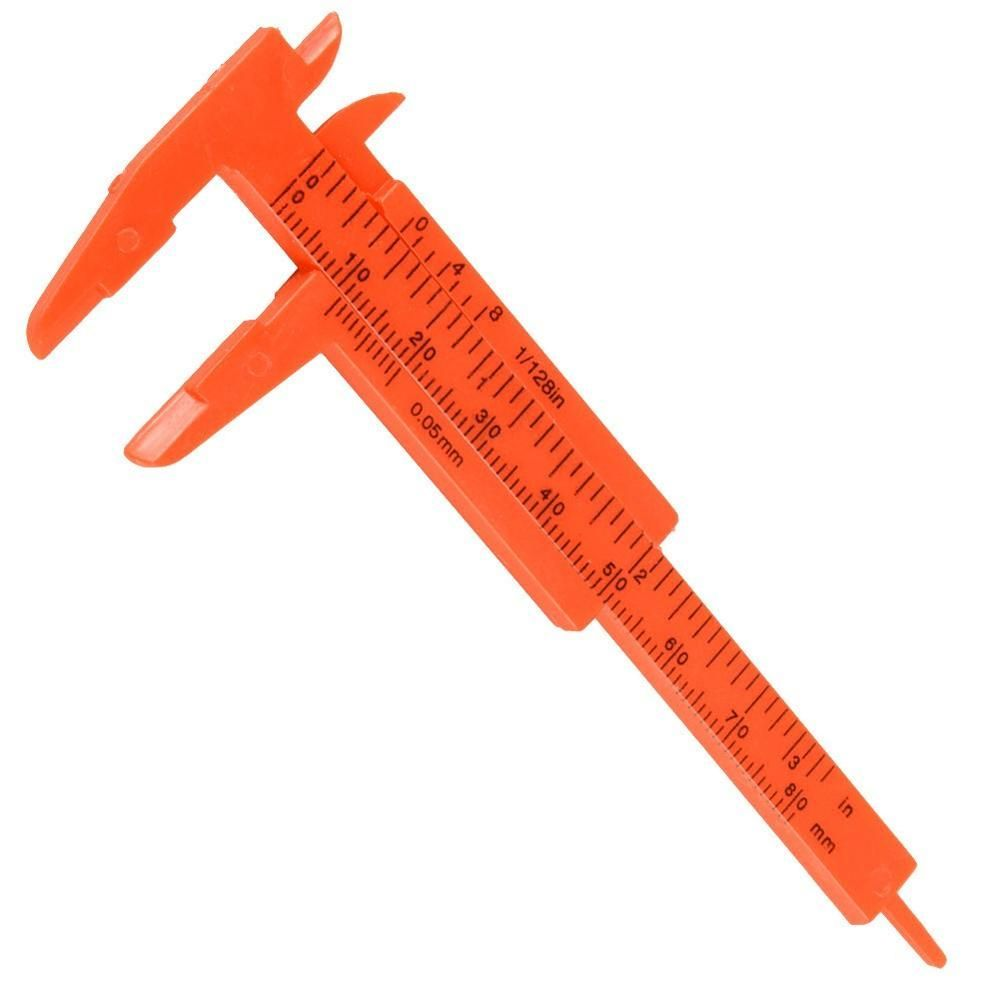 Mini Plastic Vernier Caliper Gauge Micrometer 80MM Mini Ruler Accurate Measurement Tools Standard Vernier Caliper